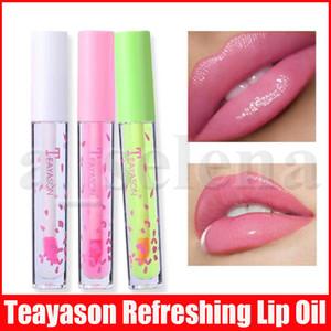 Teayason 알로에 립 메이크업 오래 지속 온도 색상 투명 액체 립스틱 보습 상쾌한 립 글로스 립글로스 오일 변경