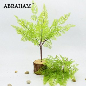 45 centimetri 7fork Falso plastica foglie di palma reale di tocco Bouquet pianta artificiale Branch False bonsai Fern Erba per la decorazione domestica DWVx #