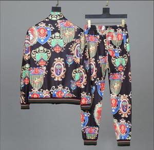 슬림 스포츠를 인쇄 스포츠 정장 편지를 실행하는 2020 남성 필립 일반 긴 소매 운동복 재킷 세트 패션