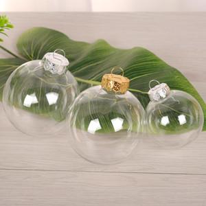 """Bolas de vidro do Natal da quinquilharia do casamento Decoração 80mm das bolas do natal Bolas de vidro de vidro claras 3 """"/ 80mm enfeites de natal DHF29"""