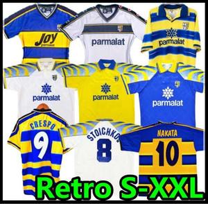 NCAA 1998 1999 2000 Parma Retro soccer Jersey 95 97 98 99 00 BAGGIO CRESPO CANNAVARO 01 02 03 Football shirt STOICHKOV THURAM futbol camisa