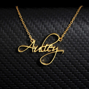 Personalized Cursive Font Custom Name Necklaces for Women Men Gold Silver Color Stainless Steel Chain Pendant Necklace Jewelry