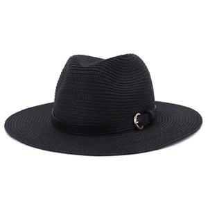 Spring Summer Straw Cap Party Street Beach Outdoor Sunhat Floppy Wide Brim Chapeau Women Men Panama Jazz Lover Gentleman Top Hat