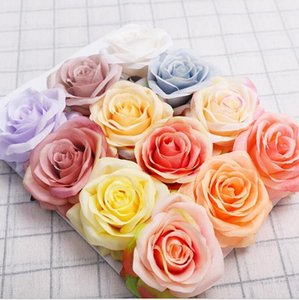 Simulation Single Rose Flower Girl Friend Rose Gift Silk Fabric Valentine Day Rose Wedding Bride Holding Flower Bouquets Decoration