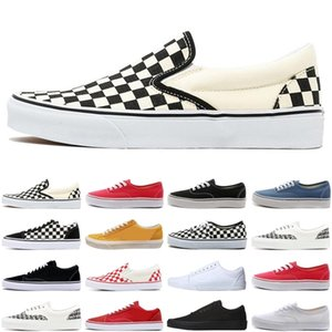 Top quality old skool sneakers classic canvas slip on men women casual shoes white fear of god skate skateboard platform mens trainers