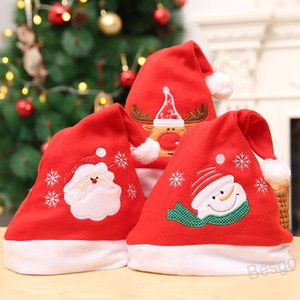 Christmas Hat Snowman Red Xmas Cap Santa Claus Children Hats Snowflake Christmas Cap Party Cosplay Hat Christmas Gift Decoration BH4208 WXM