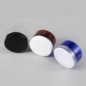 5 unids / pack 100 g 150g Vacío Jar Crema Crema Pote Maquillaje Cosmético Contenedor Amber / Azul / Claro Caja de almacenamiento Botellas anti-luz