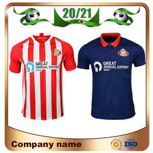 20/21 Sunderland Home Soccer Jersey 2020 Sunderland Away Blue # 9 Borini # 11grabban Camisa de futebol # 12 Mika # 18 Defoe Futebol Uniforme