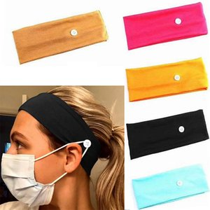 Face Mask Headband Holder Sports Headbands With Button Ear Savers Headband For Face Cover Party Favor