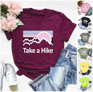 Womens T-Shirt Sommer Designer Nehmen Sie einen Wanderdrucken Kurzarm-Rundhalsausschnitt Leopard-T-Shirt Bluse-Shirts Frauen Tops T-Shirts S-2XL 6 Farben