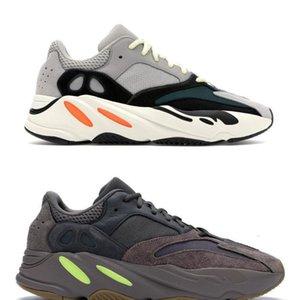 Los originales auténticos 700 corredor de la onda B75571 de vestir Kanye West Tefra Multi sólido gris tiza blanca Core 700 Black Man Shoes Sneakers