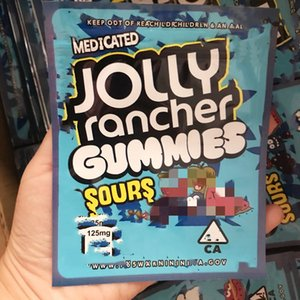 600 mg d'odeur d'odeur d'emballage refermable sac mylar sac Jolly Rancher Gummies Sac NOUVEAU SAC EDIBLES SAC GOMMES