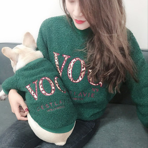 Fleece Family Clothes For Christmas Parent-Child Matching Outfit Winter Warm Dog Coat Jacket Bulldog Pet Cat Pajamas Hoodie