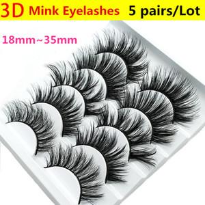 5 Pairs   Box Transparent False Eyelashes Messy Cross Thick Natural Fake Eye Lashes Professional Makeup Tips Big eye Long False Eye Lashes