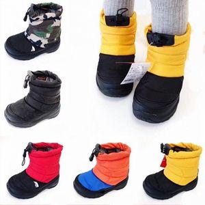Niños Snow Boots al aire libre Casual North Sports Boots Down Warm Premium Juvenil Mid High Cut Children Sneaker