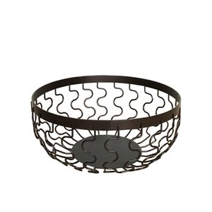Wave wrought iron fruit basket contracted hollow out receive basket creativity sitting room household tea table fruit basin