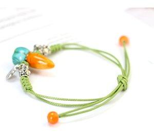 Piccole carote modello gioielli di moda in ceramica verde corda del fumetto delle donne di stile sveglio del popolare orna l'articolo
