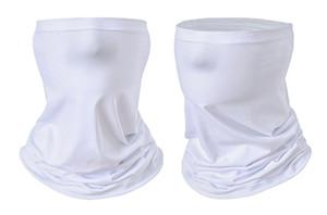 Térmica en blanco Sublimación turbante bufanda de cuello de la media cara máscara de polvo impresión por transferencia térmica Pañuelos Deportes diadema pañuelo para el cuello F102302