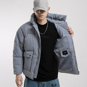 Fashion-2020 Streetwear Winter Jacket Short Style Men Cargo Parkas Thicken Hooded Slim Fit Solid Casual Coats Fashion Male Warm Over Co