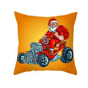 Funny Santa Christmas Throw Pillow Covers 18x18 Inch Santa Claus Pets Home Decorative Pillowcase for Couch Sofa DDE2157