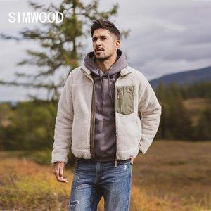 SIMWOOD Herbst Winter neue Männer Fleecejacke getäfelten plus Größe Sherpa Teddy Jacke Qualität plus Größen Mäntel SI980742 201026