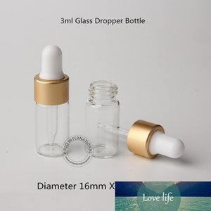 50pcs Lot Empty 3ml Mini Perfume Essential Oil Sample Vials Glass Dropper Bottle with Pipette Cosmetic Vial Clear Mate Golded