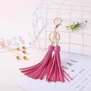 Lady Chain Bag Key Creative Charm Chiffon Pu For Double Leather Ornaments Key Fashion H Keychain Tassel Holder Jllpbf Ring Eh891 Mhkxh Dnpd