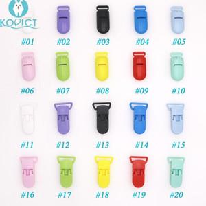 Kovict Baby-Nippel-Kunststoff-Haken-bunte Silikon-Korn-Ketten Herstellung Zubehör Fütterung Werkzeuge für Säugling Schnuller Clip