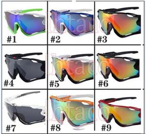Nuevos hombres moda viento gafas de sol deportes espectáculos mujeres grandes gafas hombre ciclismo deportes al aire libre montar gafas de sol 9color envío gratis