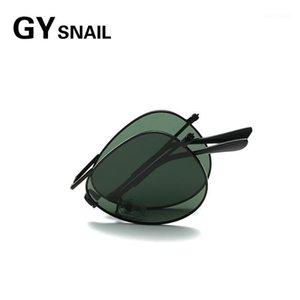 Солнцезащитные очки Gysnail Pilot Складные Мужчины Поляризованные Женщины Мода Дизайнер Бренд Дизайнер Винтажные Складные Солнечные Очки для Oculos 20211