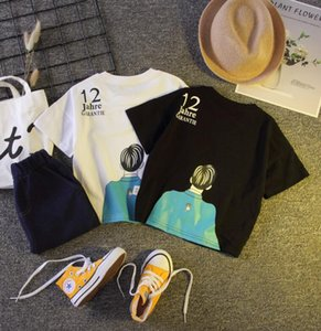 Boys' short sleeve suit pure cotton summer children's summer children's baby children's cartoon two piece suit