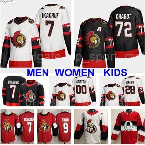 New 2021 Hockey Ottawa Senators 41 Craig Anderson Jersey 9 Bobby Ryan 71 Chris Tierney 63 Tyler Ennis Vladislav Namestnikov 7 Brady Tkachuk