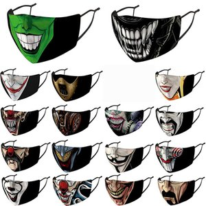 Halloween face mask men women designer face masks Uncle Smoking Mask Skull Head Clown 3D Printing facemask in stock with filters party mask