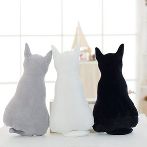 Cute Back Shadow Cat Plush Toys Animals Doll Toys Soft Stuffed Pillow Cushion Doll Bedding For Women Girls Kids Gift Toys