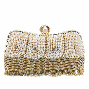 Evening Bag Pearl Wedding Bags Mother of Pearl Clutches Crystal Purse Brial Handbag Women Prom Clutches Dress Matching Bags