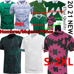 Messico Retro Fans Classic Fans Soccer Jerseys 1986 94 95 98 Camisetas Chándal de Fútbol Camicie da calcio 2021 Giocatore Lozano Donne Kit Kit Kit uniforme