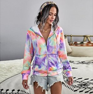 Fashion Design Long Sleeve Women's Hooded Pocket Zipper Front Hooded Sweatshirt Jacket 5 Colors