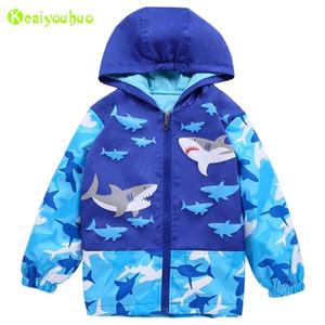 Keaiyouhuo Çocuklar Rüzgarlık Bahar Erkek Ceketler Kızlar için Ceket Bebek Giyim Ceket Bebek Giyim Y200831