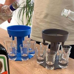 6 Shot Glass Dispenser Holder Wine Glass Rack Cooler Beer Beverage Dispenser Party Gifts Bar Accessories T3I51556