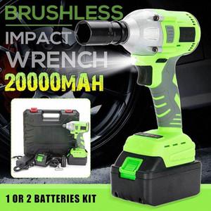 Cordless / Brushless Elektroschrauber-Bohrschrauber 320N.m Schlagsteckschlüssel-20000mAh Batteriehandbohrgerät Installations Power Tools SyjR #