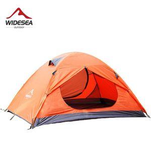 Widesea Camping-Zelt Reise Wasserdicht Tourist Tent 2 Person Winter-Double-Layer-Pavillon im Freien wandernd