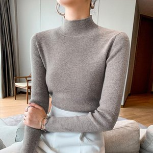 Women 100% Cashmere And Wool Pullover New Arrival Turtleneck Elasticity Sweater Female Warm Soft Basic Jumper Solid Slim Pull