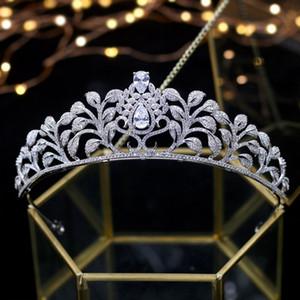 Asnora Coroa de noiva Wedding Tiara Bridal Crowns Princess Tiaras Girls' Hairwear Wedding Hair Accessories couronne de mariage