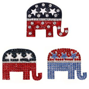 Fashion New Custom Popular Enamel Crystal Rhinestone Elephant Animal Ladies Women Pins Brooches For Gift Decoration