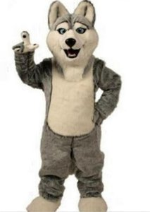 2021 Hot sale Wolf mascot costumes halloween dog mascot character holiday Head fancy party costume adult size birthday