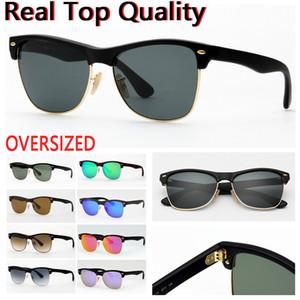 Sunglasses de concepteurs Lunettes de soleil surdimensionnées pour lunettes de soleil pour hommes avec verre UV Lenese, boîtier en cuir noir ou brun et tous les paquets de vente au détail!