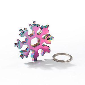 18-in-1 snowflake 멀티 도구 포켓 스테인레스 스틸 multitool edc 도구 카드 육각 렌치 드라이버 알렌 렌치 크리스마스 선물 owe4571
