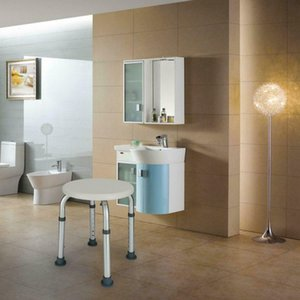7 Altura Redonda Banheiro Cadeira de Chuveiro Anti-Slip Bath Bath Banquinhos Assento Branco