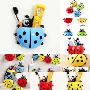 Kanca Karikatür Enayi Çocuklar Güzel Sahipler Hayvan Ladybug Diş Fırçası Duvar Emme Banyo Setleri Kupası Aracı 4 Nykcy