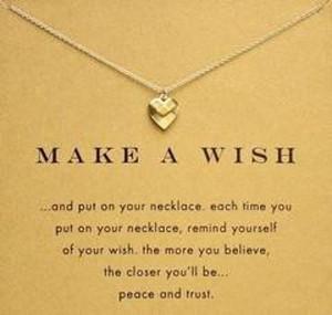 18 K placcato oro clavicola catena Belle Wishbone breve Collana pendente pendenti di collane per le donne Girls (senza carta di carta) LL7B #